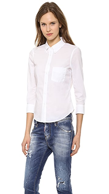 Band of Outsiders Cropped Sleeve Shirt