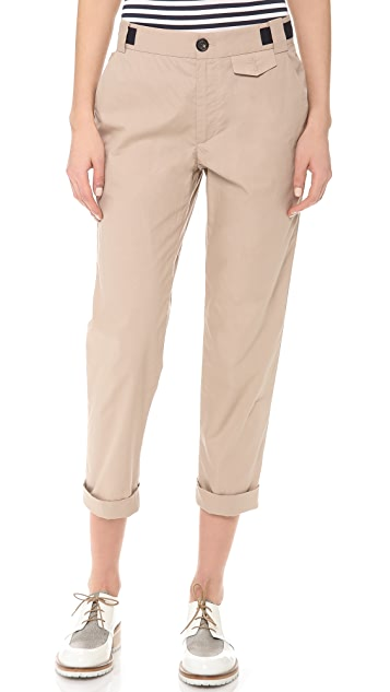 Band of Outsiders Slim Pants with Contrast Detail