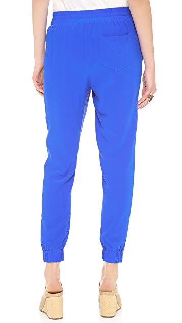 Band of Outsiders Washed Silk Crepe Pants