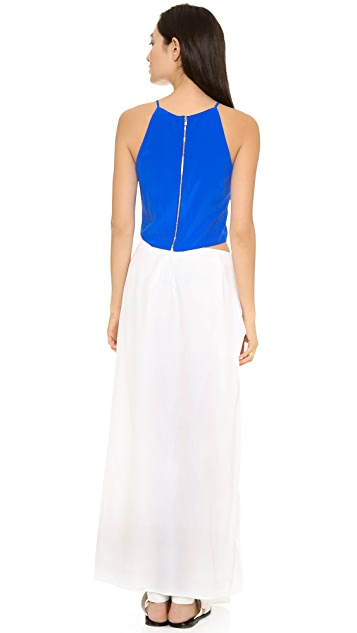 Band of Outsiders Silk Crepe Side Slash Dress