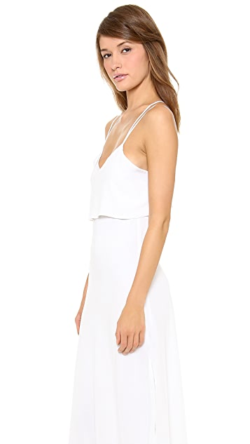 Band of Outsiders Silk Crepe Spaghetti Strap Gown