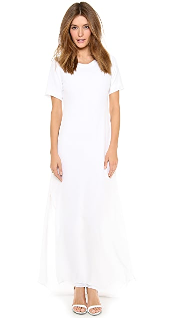 Band of Outsiders Silk Crepe T-Shirt Gown
