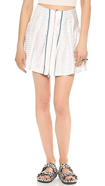 Band of Outsiders Bandana Print Pleated Skirt