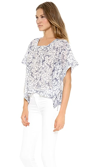 Band of Outsiders Wave Print Boxy Top