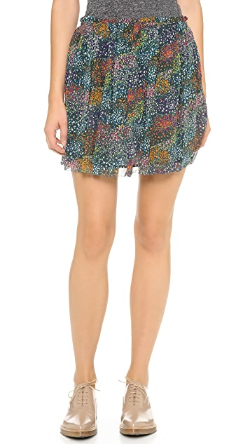 Band of Outsiders Flower Field Miniskirt
