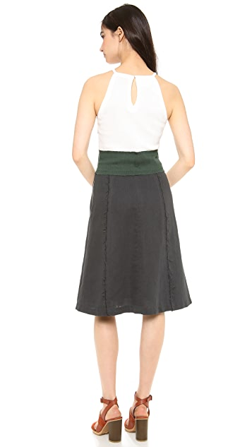 Band of Outsiders Colorblock Halter Dress