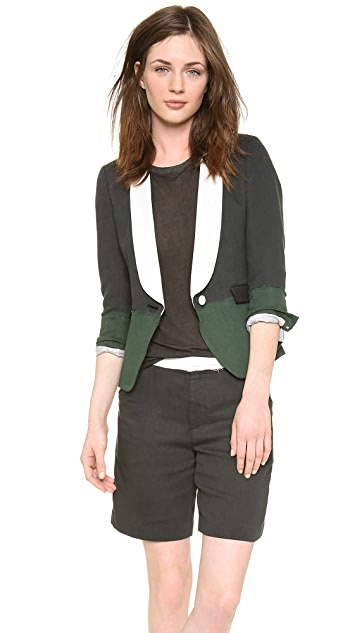 Band of Outsiders Double Gauze Colorblock Schoolboy Jacket