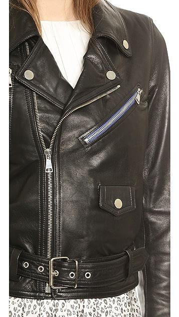 Band of Outsiders Leather Moto Jacket