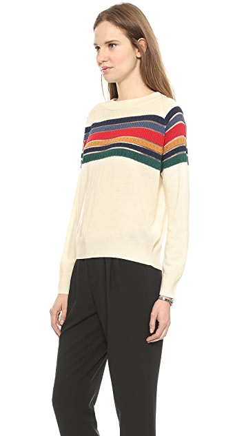 Band of Outsiders Contrast Stripe Raglan Sweater