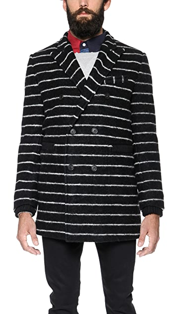 Band of Outsiders Double Breasted Reefer Coat