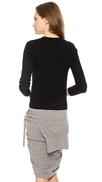 Band of Outsiders Crew Neck Sweater with Eyelashes