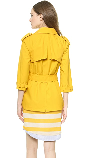 Band of Outsiders Belted A Line Trench Coat