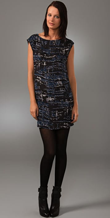 BB Dakota Matson Abstract Print Dress