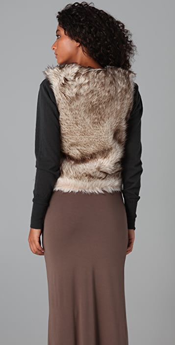 BB Dakota Garrett Faux Fur Vest
