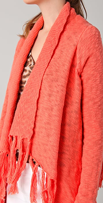 BB Dakota Alma Cardigan Sweater with Fringe