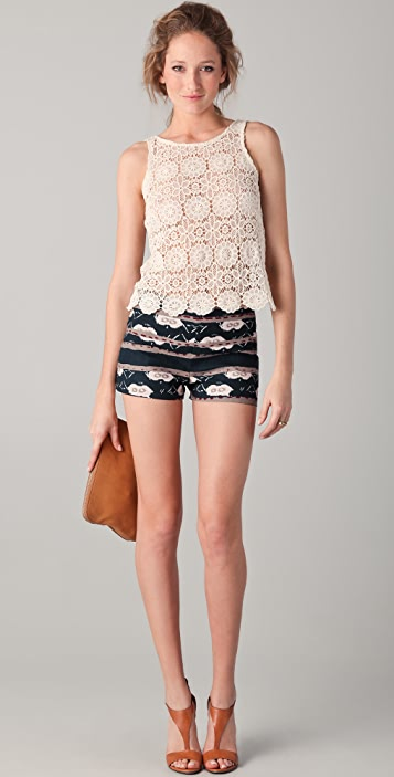 BB Dakota Reeza Moroccan Print Shorts