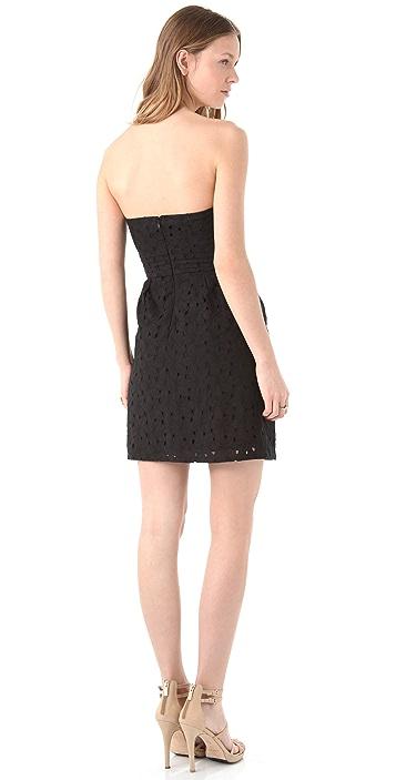 BB Dakota Ledell Eyelet Strapless Dress