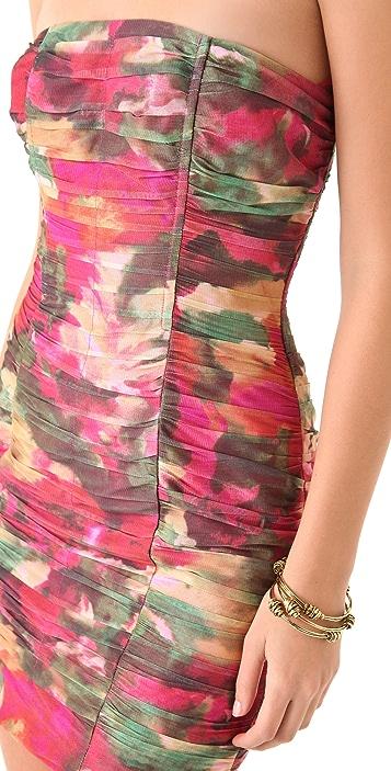 BB Dakota Oksana Printed Strapless Dress