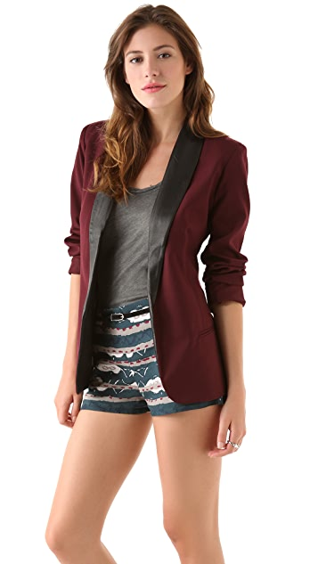BB Dakota Zane Leather Lapel Blazer