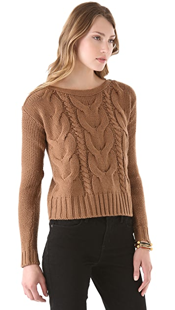 BB Dakota David Cable Knit Sweater