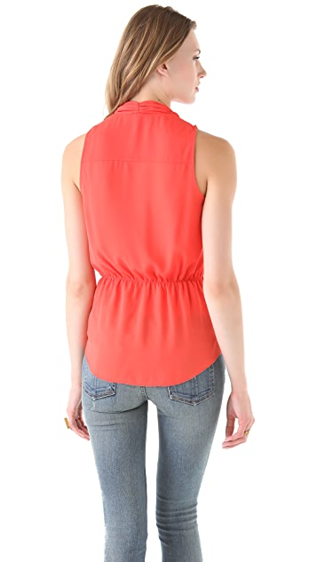BB Dakota India Flutter Collar Top