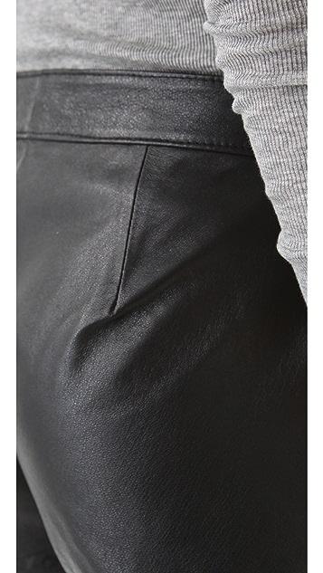 BB Dakota Bryn Leather Shorts