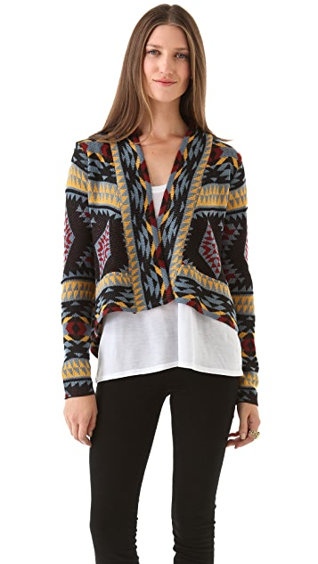 BB Dakota Patterned Cardigan