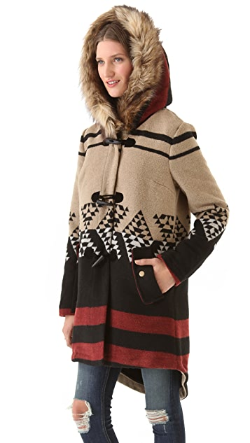 BB Dakota Arlet Colorblock Pattern Coat