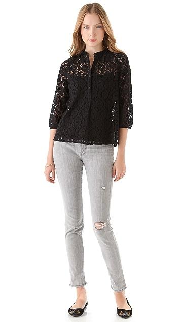 BB Dakota Stiles Lace Button Top
