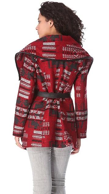 BB Dakota Vanderbilt Pattern Coat