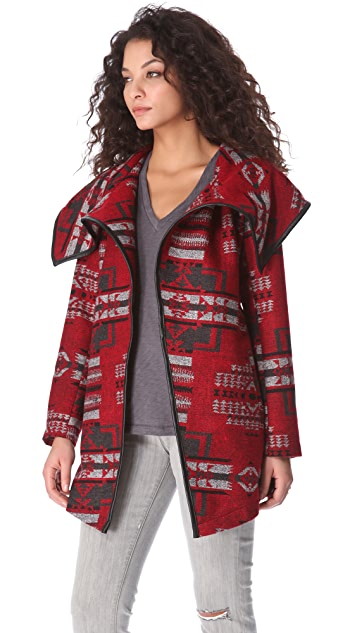 BB Dakota Vanderbilt Pattern Coat
