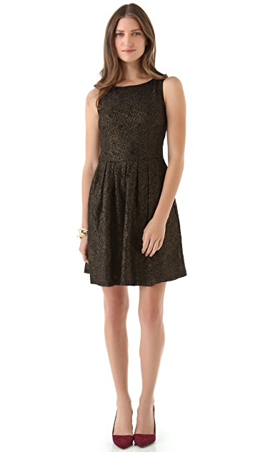 BB Dakota Nico Gold Metallic Lace Dress