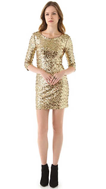 BB Dakota Neva Sequin Fitted Dress