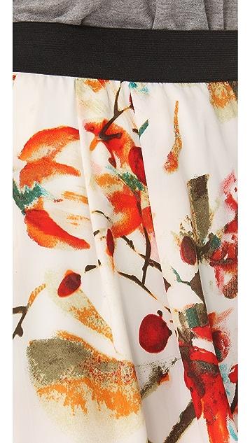 BB Dakota Steffi Print Elastic Waist Skirt