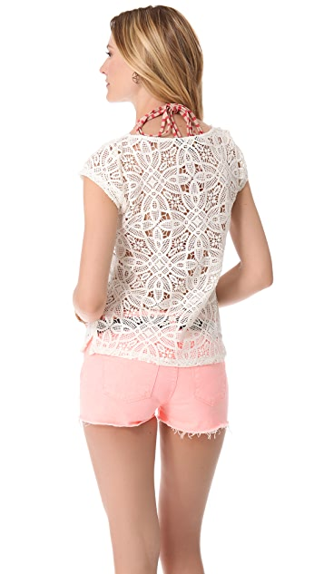 BB Dakota Omni Crochet Top
