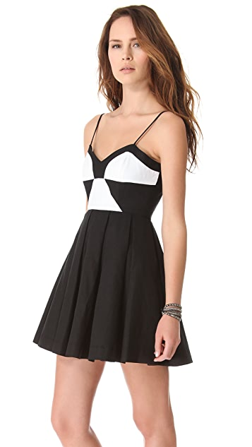 BB Dakota Gable Linen Colorblock Dress