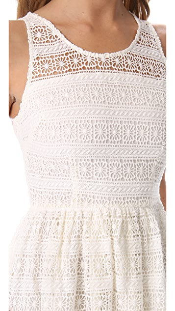 BB Dakota Jacynth Cotton Crochet Dress