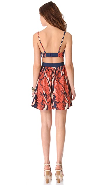 BB Dakota Maynard Bengal Print Dress
