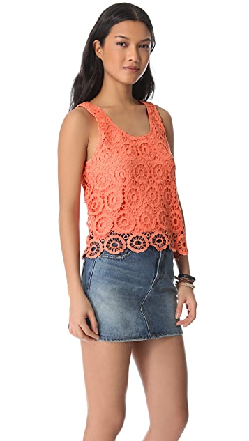 BB Dakota Covina Crochet Tank
