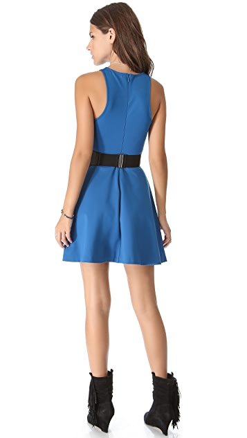 BB Dakota Kelsi Flare Dress with Studded Belt