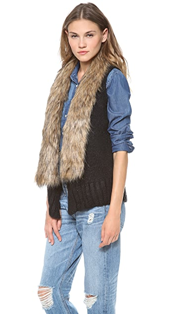 BB Dakota Perri Vest with Faux Fur Collar
