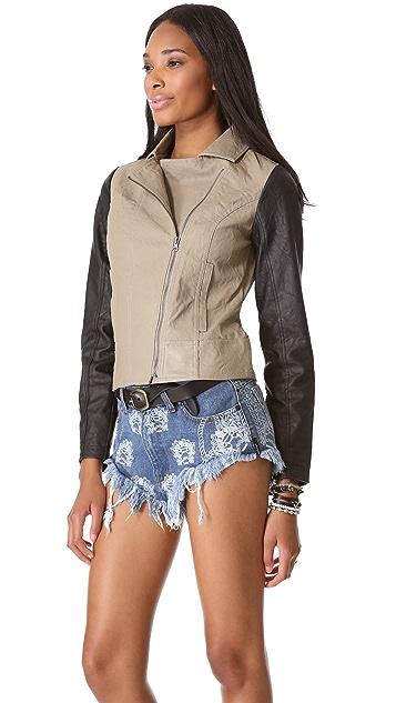 BB Dakota Kat Faux Leather Jacket