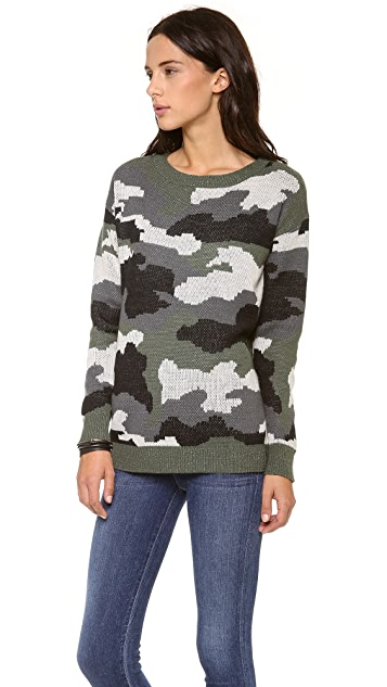 BB Dakota Camo Sweater