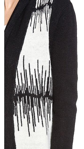 BB Dakota Electricity Pattern Cardigan Sweater