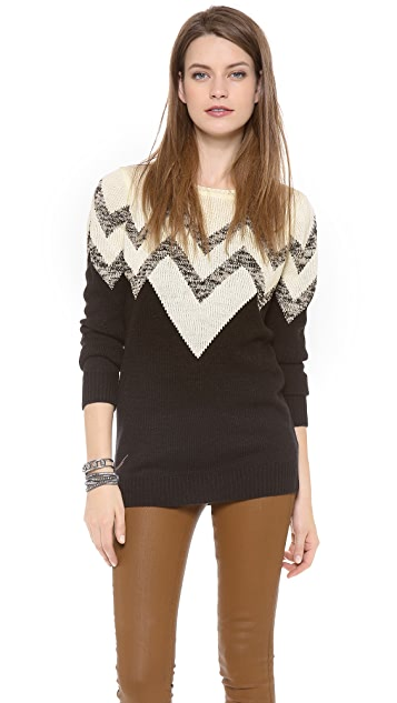 BB Dakota Broderick V Pattern Sweater