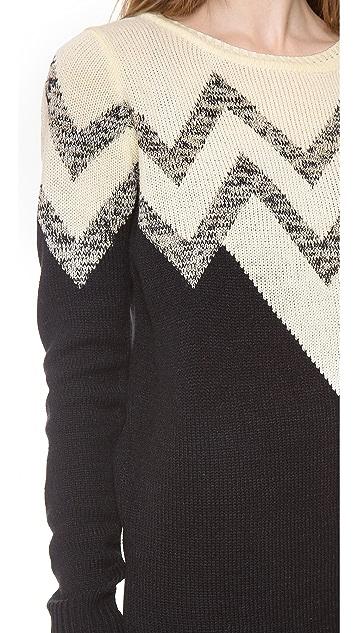 BB Dakota Broderick V Pattern Sweater