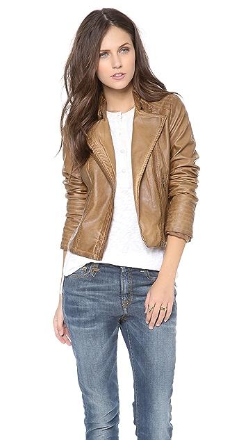BB Dakota Stanley Faux Leather Jacket