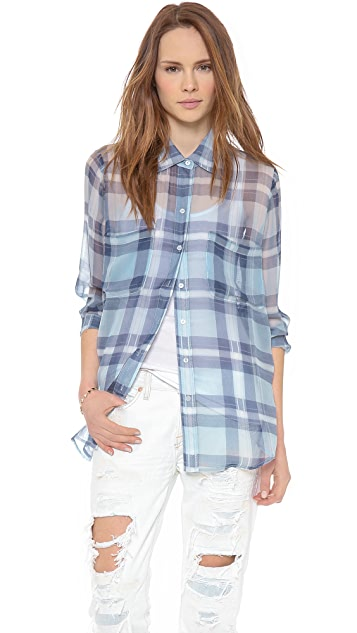 BB Dakota Dakota Collective Addis Plaid Top