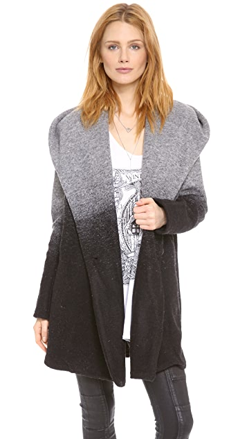 BB Dakota Joyce Ombre Hooded Coat