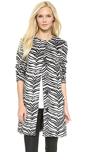 BB Dakota Moselle Zebra Coat